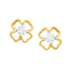 Buy Me-solitaire Yellow Gold Diamond Earrings Ae336si-jk18y online