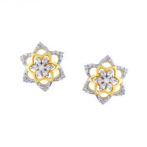 Buy Nakshatra Yellow Gold Diamond Earrings Baep787si-jk18y online