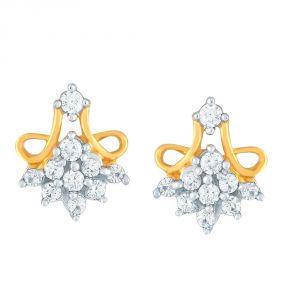 Buy Sangini Yellow Gold Diamond Earrings Ce921si-jk18y online