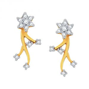 Buy Nakshatra Yellow Gold Diamond Earrings Dde00236si-jk18y online