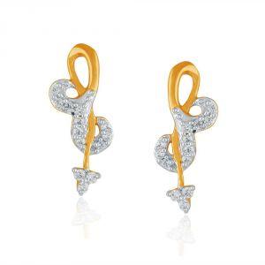 Buy Asmi Yellow Gold Diamond Earrings Dde15534si-jk18y online