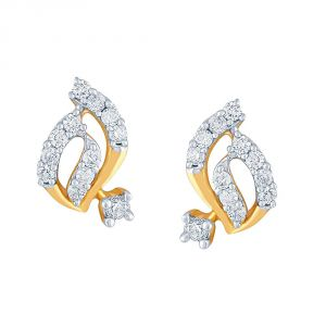 Buy Asmi Yellow Gold Diamond Earrings De289si-jk18y online