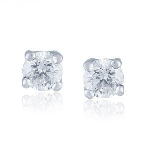 Buy Me-solitaire Yellow Gold Diamond Earrings De294si-jk18y online