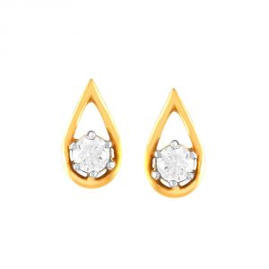 Buy Me-solitaire Yellow Gold Diamond Earrings De330si-jk18y online