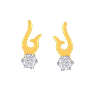 Buy Me-solitaire Yellow Gold Diamond Earrings De370si-jk18y online