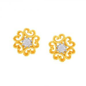 Buy Me-solitaire Yellow Gold Diamond Earrings De379si-jk18y online