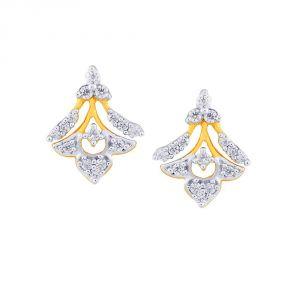 Buy Asmi Yellow Gold Diamond Earrings De538si-jk18y online