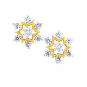 Buy Nakshatra Yellow Gold Diamond Earrings De700si-jk18y online