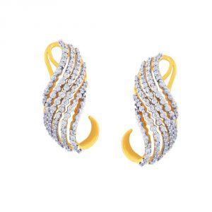 Buy Sangini Yellow Gold Diamond Earrings De727si-jk18y online