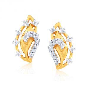 Buy Sangini Yellow Gold Diamond Earrings E24b00039si-jk18y online