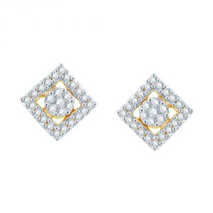 Buy Nirvana Yellow Gold Diamond Earrings online