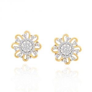 Buy Nakshatra Yellow Gold Diamond Earrings Nera512si-jk18y online