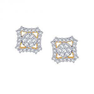 Buy Nirvana Yellow Gold Diamond Earrings Pe021si-jk18y online
