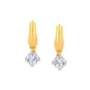 Buy Asmi Yellow Gold Diamond Earrings Pe10177si-jk18y online