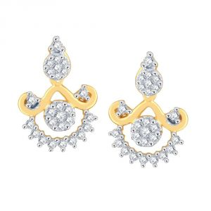 Buy Nirvana Yellow Gold Diamond Earrings Pe14384si-jk18y online