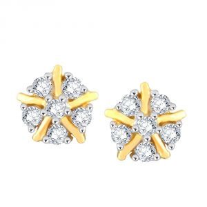 Buy Nakshatra Yellow Gold Diamond Earrings Pe17475si-jk18y online