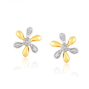 Buy Asmi Yellow Gold Diamond Earrings Pe18753si-jk18y online
