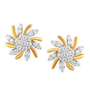 Buy Asmi Yellow Gold Diamond Earrings Pe21383si-jk18y online
