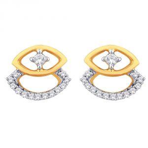 Buy Asmi Yellow Gold Diamond Earrings Pra1e3542si-jk18y online