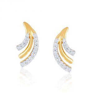 Buy Asmi Yellow Gold Diamond Earrings Pra1e3967si-jk18y online