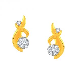 Buy Nakshatra Yellow Gold Diamond Earrings Pse101si-jk18y online