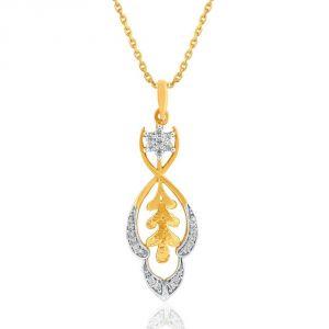 Buy Asmi Yellow Gold Diamond Pendant online