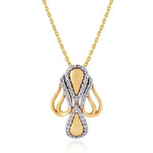 Buy Nirvana Yellow Gold Diamond Pendant Aap022si-jk18y online