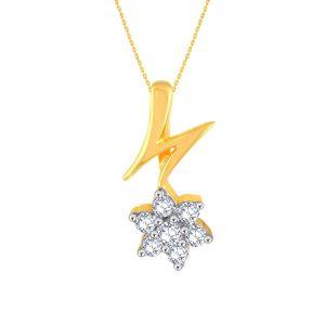 Buy Nakshatra Yellow Gold Diamond Pendant Ap210si-jk18y online