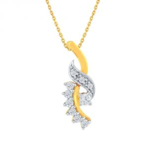 Buy Asmi Yellow Gold Diamond Pendant Ap648si-jk18y online