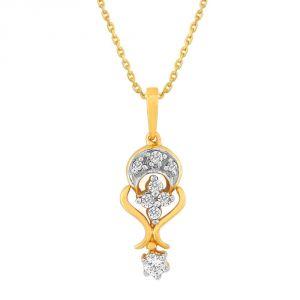 Buy Asmi Yellow Gold Diamond Pendant Ap757si-jk18y online