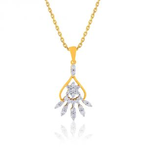 Buy Asmi Yellow Gold Diamond Pendant Cp769si-jk18y online