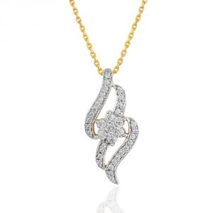 Buy Maya Diamond Yellow Gold Diamond Pendant Npc023si-jk18y online