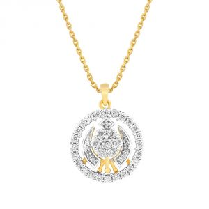 Buy Nakshatra Yellow Gold Diamond Pendant Npc044si-jk18y online