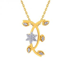 Buy Nakshatra Yellow Gold Diamond Pendant Npc223si-jk18y online