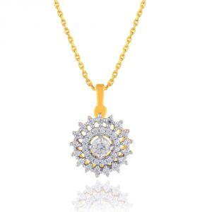 Buy Sangini Yellow Gold Diamond Pendant Npc538si-jk18y online