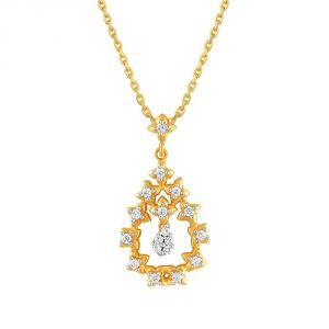Buy Asmi Yellow Gold Diamond Pendant Pp13527si-jk18y online