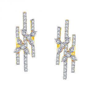 Buy Sangini Yellow Gold Diamond Earrings De724si-jk18y online