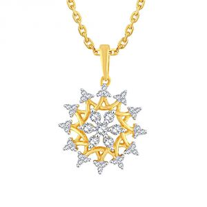 Buy Nakshatra Yellow Gold Diamond Pendant Pp19915si-jk18y online