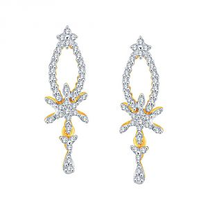 Buy Nakshatra Yellow Gold Diamond Earrings Le4291si-jk18y online