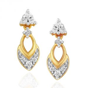Buy Asmi Yellow Gold Diamond Earrings Dde02167si-jk18y online