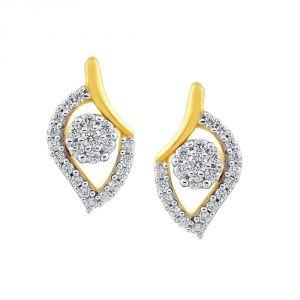 Buy Nirvana Yellow Gold Diamond Earrings Nera423si-jk18y online