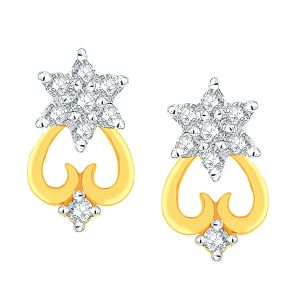 Buy Nakshatra Yellow Gold Diamond Earrings Nterb029si-jk18y online