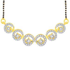 Buy Gili Yellow Gold Diamond Mangalsutra Aam164si-jk18y online