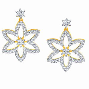 Buy Asmi Yellow Gold Diamond Earrings Ade01119si-jk18y online