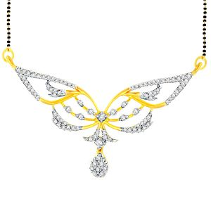 Buy Gili Yellow Gold Diamond Mangalsutra Fpk385si-jk18y online
