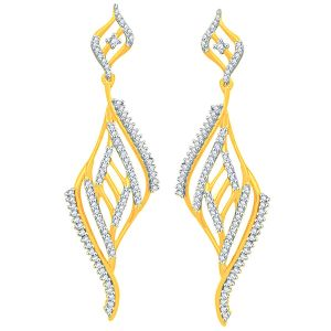 Buy Sangini Yellow Gold Diamond Earrings Ade00745si-jk18y online