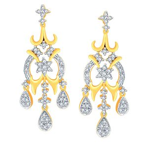 Buy Nakshatra Yellow Gold Diamond Earrings Nerb185si-jk18y online