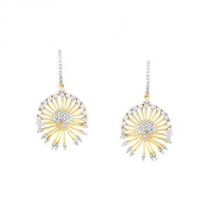 Buy Gili Yellow Gold Diamond Earrings Baep112si-jk18y online