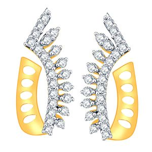 Buy Gili Yellow Gold Diamond Earrings online