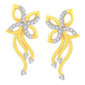 Buy Sangini Yellow Gold Diamond Earrings Ade00548si-jk18y online